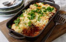 Vegetarisk lasagne med basilikaricotta
