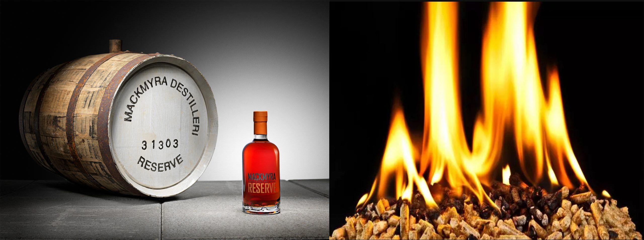 Mackmyra bränner whisky med svensk pellets
